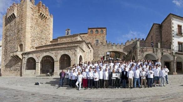 Foto | Periódico HOY - Apoyo de los cocineros a la candidatura